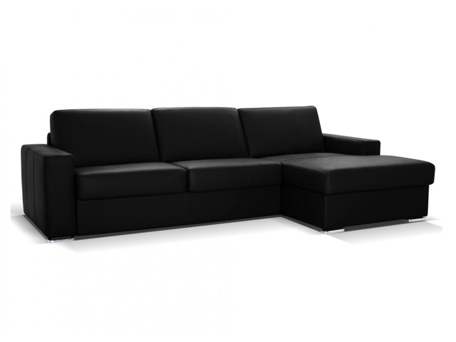 ledersofa ecksofa mit schlaffunktion matratze delectea luxusleder schwarz sofaecke. Black Bedroom Furniture Sets. Home Design Ideas