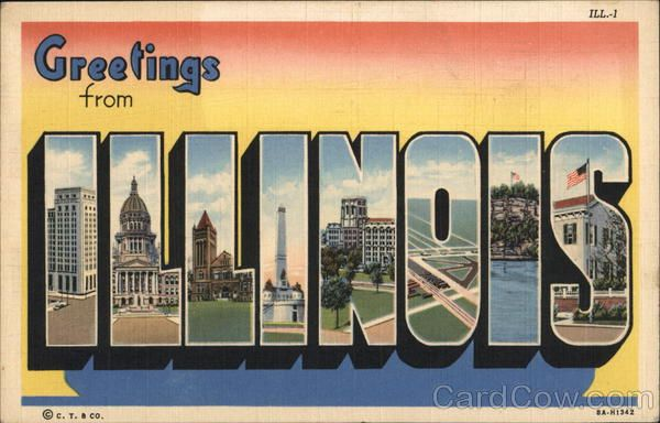 Greetings from Illinois Large Letter