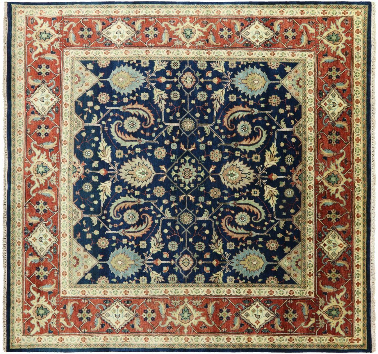 8 Square Heriz Serapi Handmade Wool Area Rug Q1053 Rugs Wool Area Rugs Rugs On Carpet