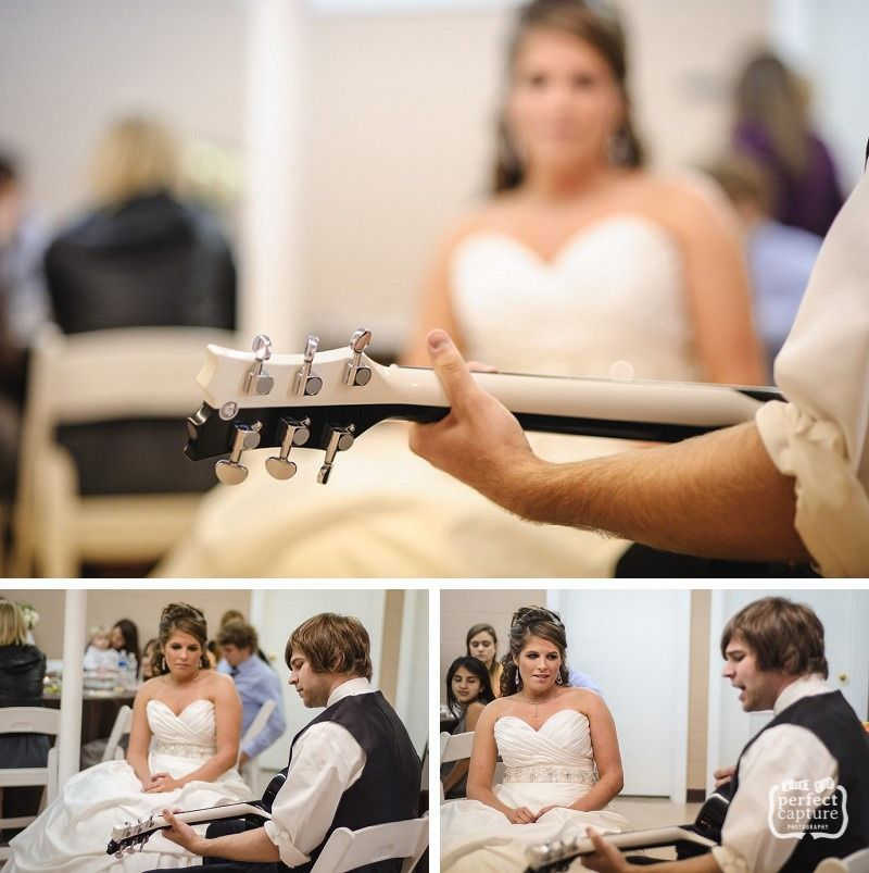 Songs To Sing At A Wedding: Groom Singing Original Song To Bride At Reception