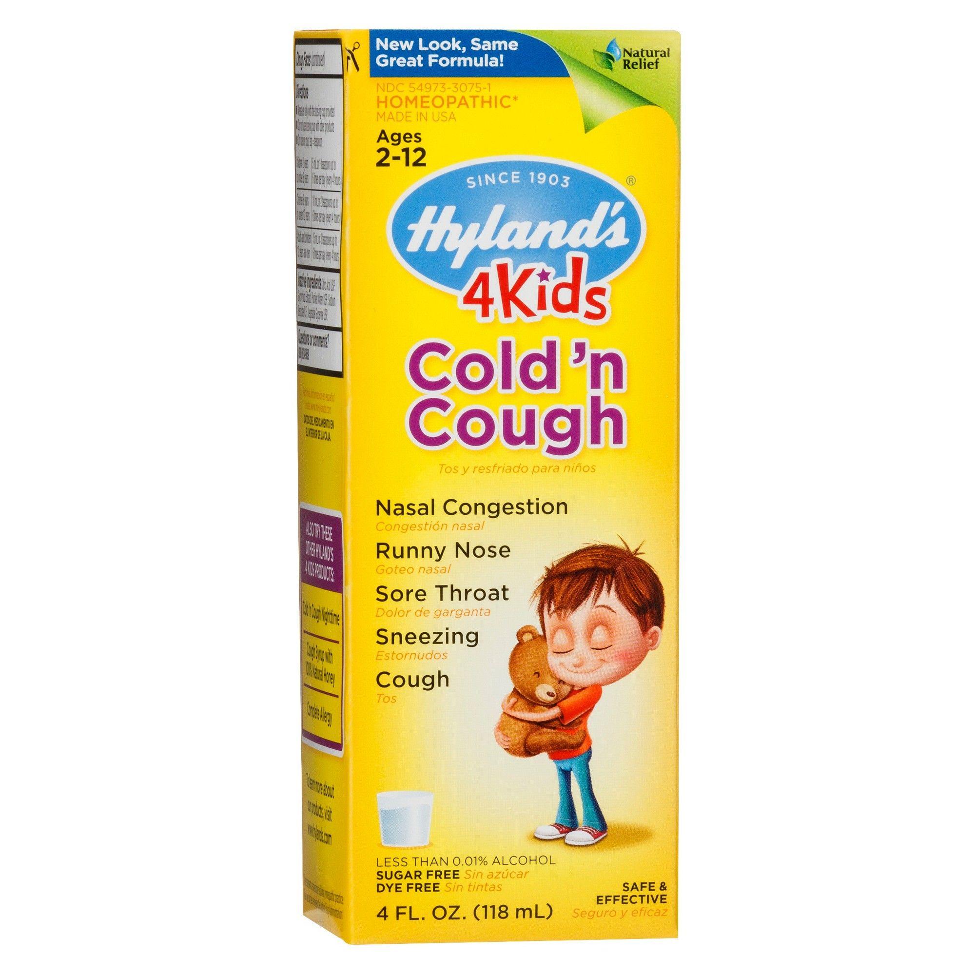 Children's Hyland's Cold 'n Cough 4 Kids Syrup 4 fl oz