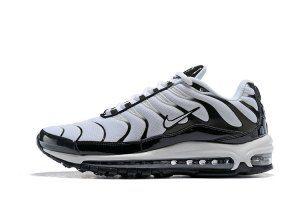 Mens Nike Air Max Plus TN 97 White Black Running Shoes  f2cc81da3