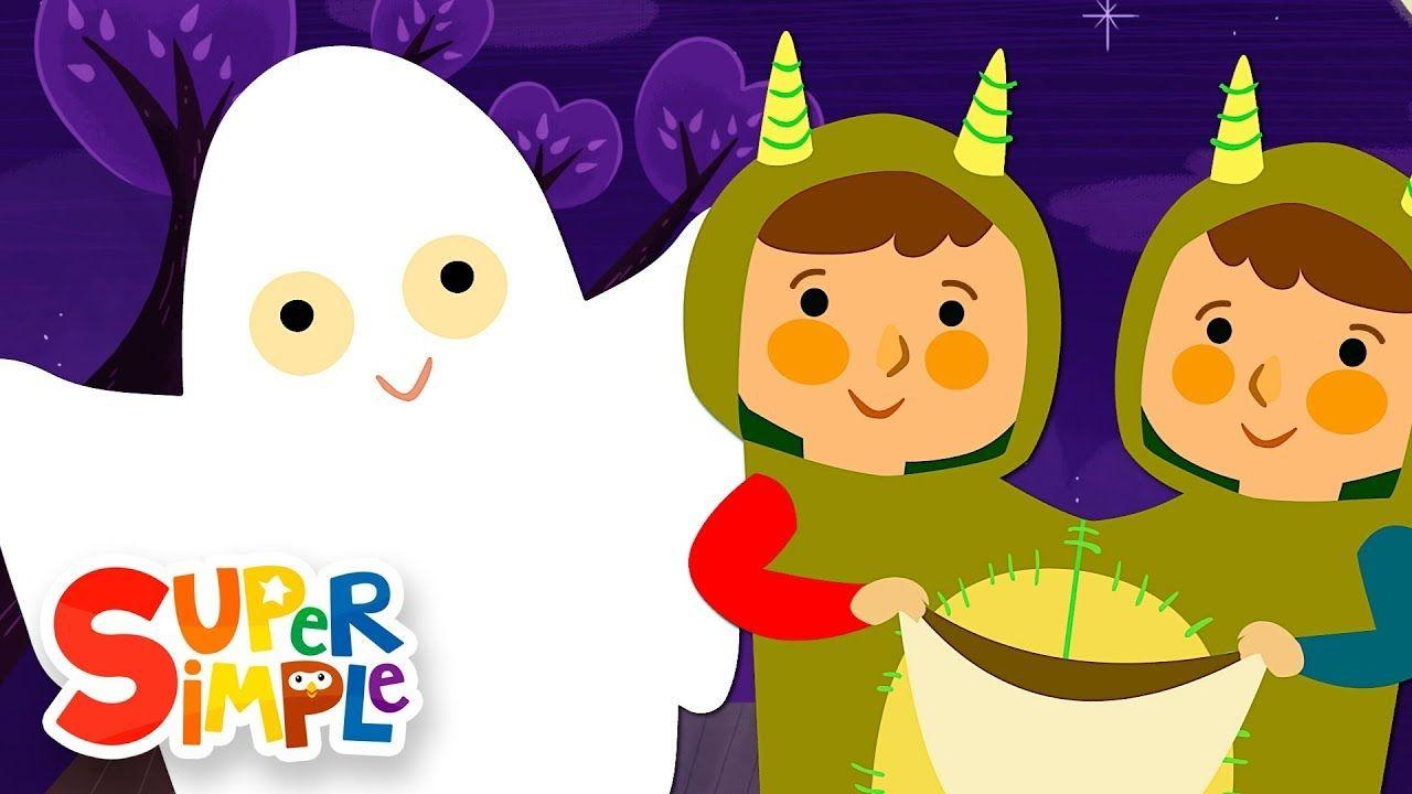 Knock Knock Trick Or Treat Halloween Song Super Simple Songs Youtube Halloween Songs Kids Songs Preschool Songs
