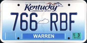 Kentucky State License Plate | The US50 | U S  - KENTUCKY