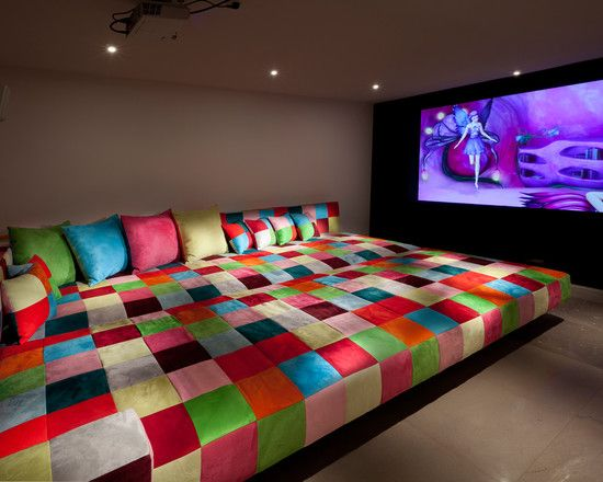 Media Room Decor media room bed pillows design, pictures, remodel, decor and ideas