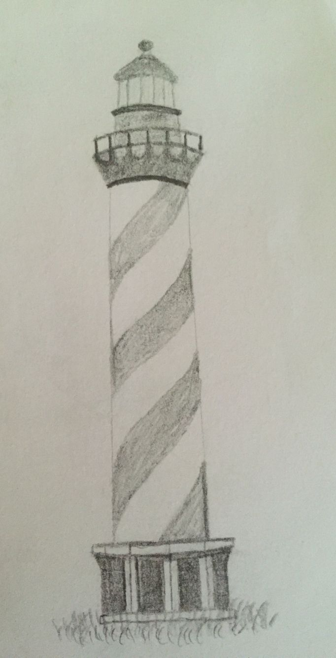 Lighthouse pencil sketch