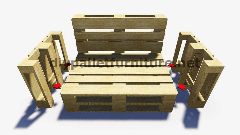 Muebles de palets instrucciones paso por paso y planos de for Reciclado de palets sillones