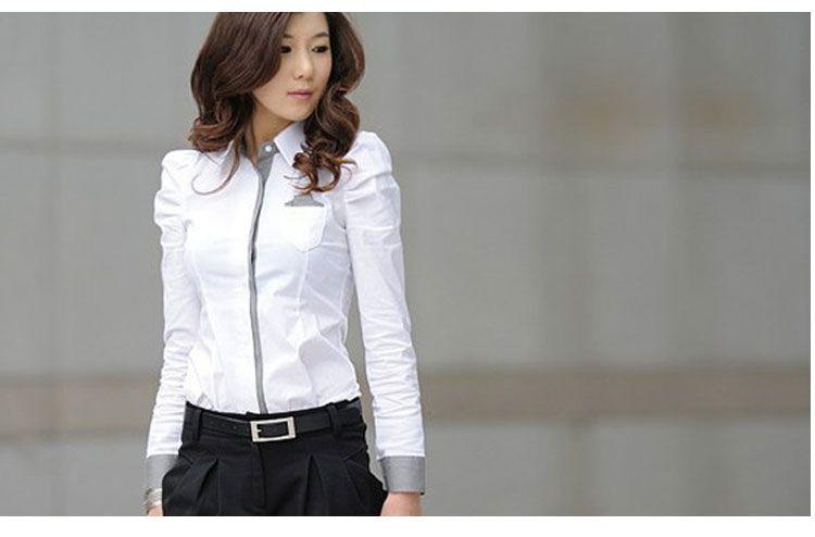 Model Kemeja Putih Wanita Lengan Panjang Terbaru Kemeja Model