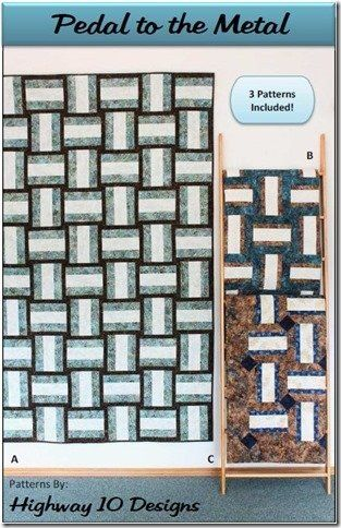 Pedal To The Metal Quilt Pattern by Highway 10 Designs