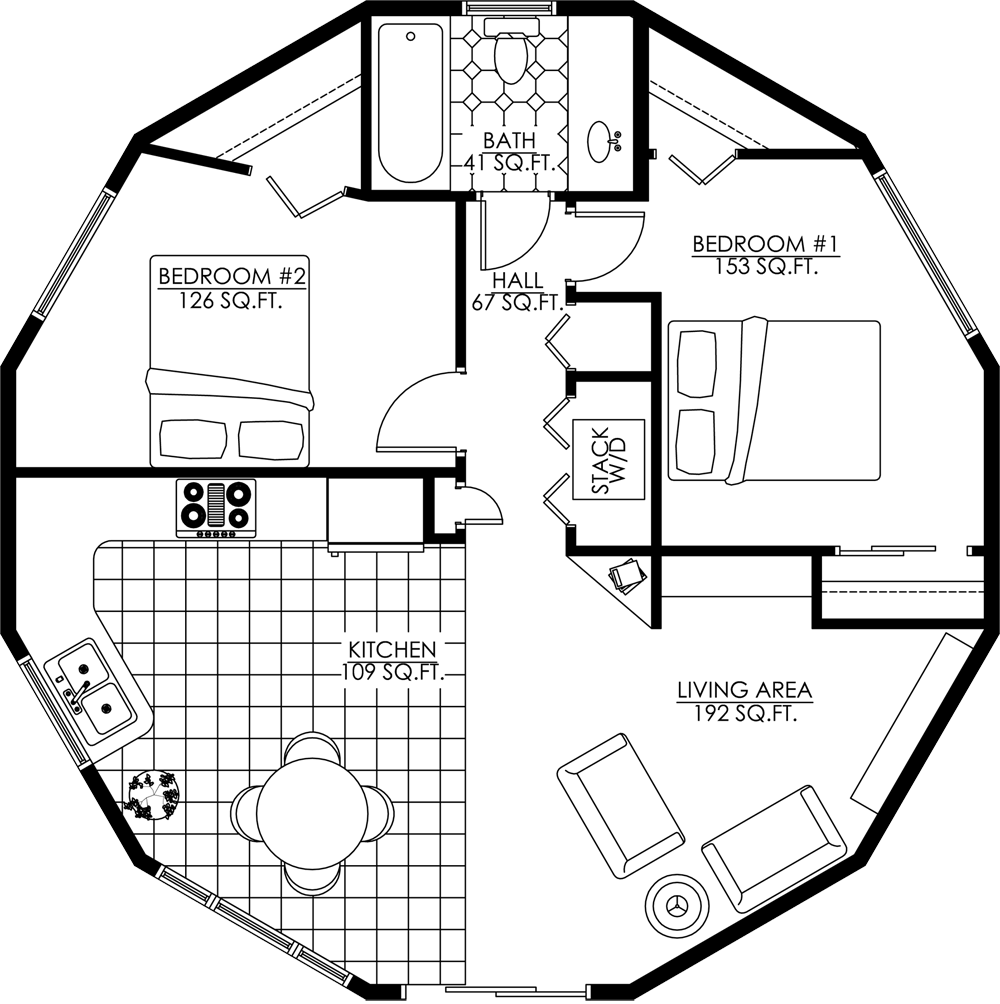 Deltec Homes Floorplan Gallery Round Floorplans Custom Floorplans Round House Plans Octagon House Yurt