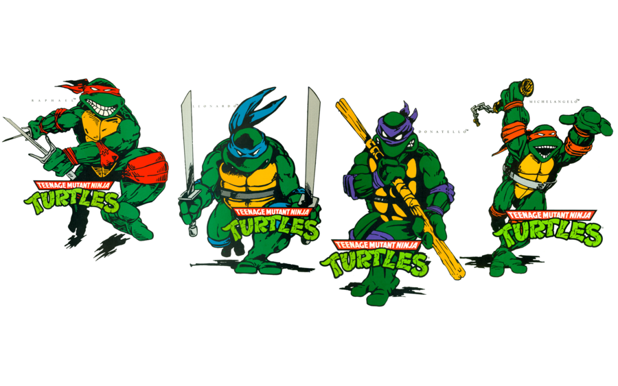 tmnt logos TMNT Book Covers Wallpaper by FistfulOfYoshi