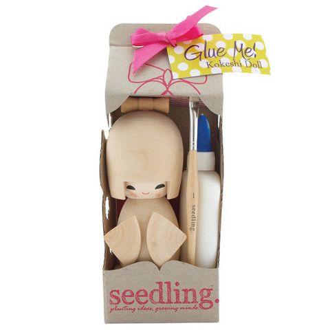 Seedling Glue Me Kokeshi Doll Kit