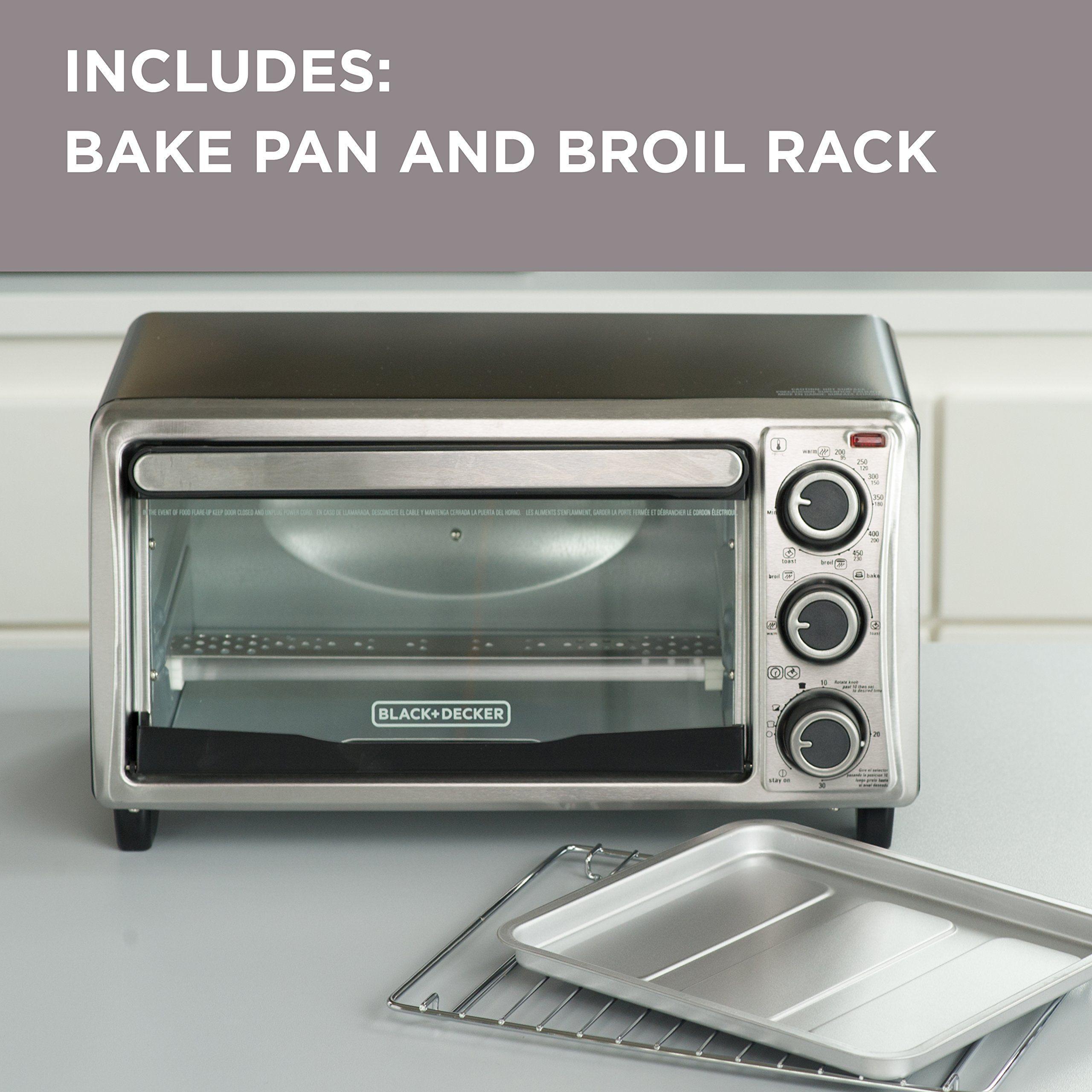 Black Decker 4slice Toaster Oven Stainless Steel To1303sb Visit