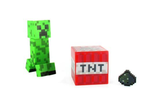 Amazon com : Minecraft Core Creeper Action Figure with