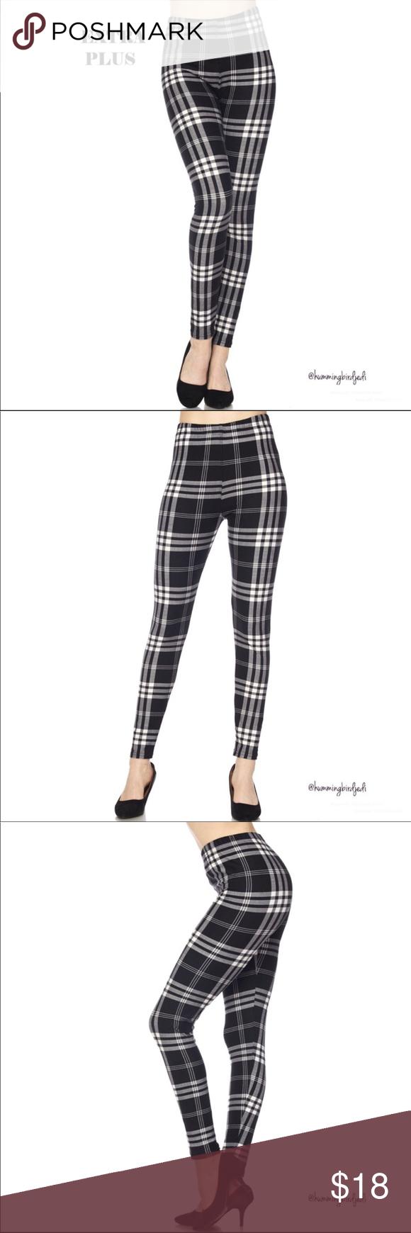 Women/'s 3x-5x Leggings Posh Plaid