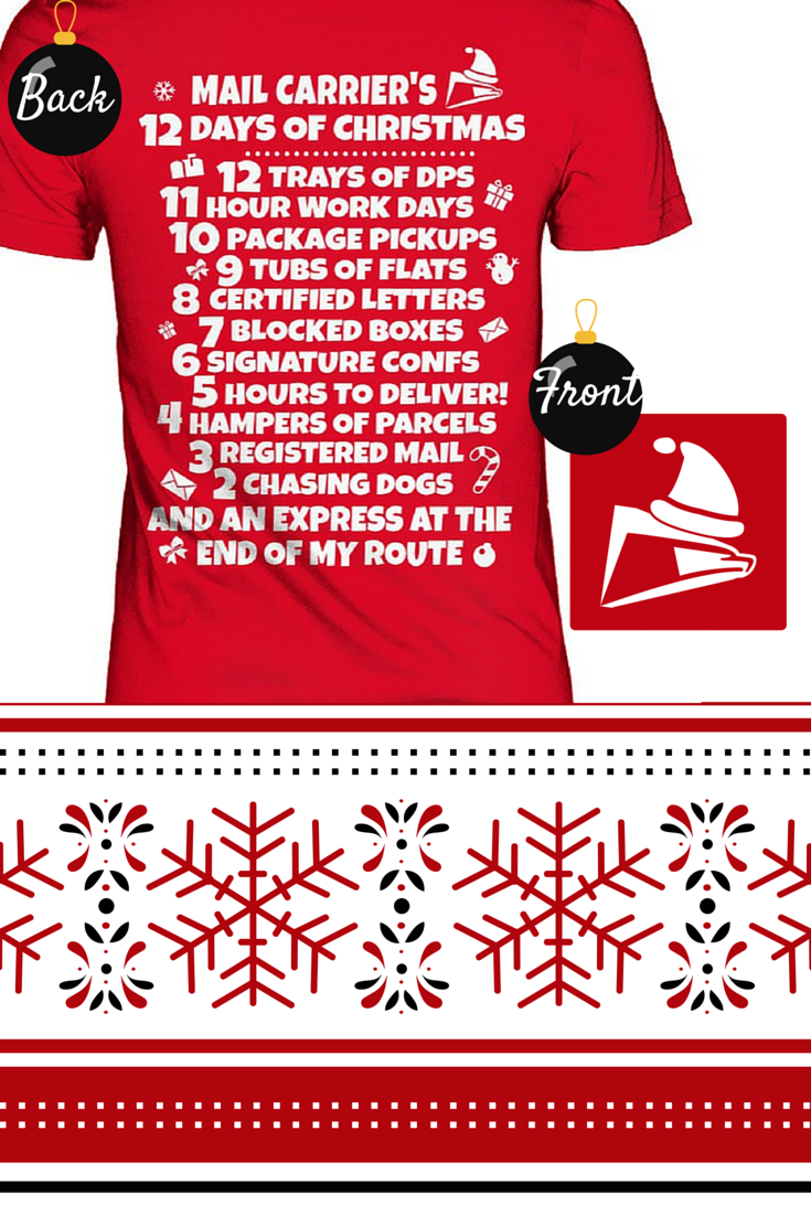 Mail Carriers 12 Days Of Christmas Work The Office