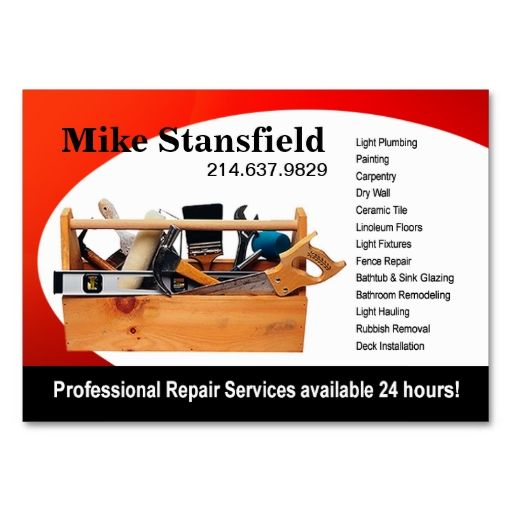 Home Repair Handyman Business Card Zazzle Com Handyman