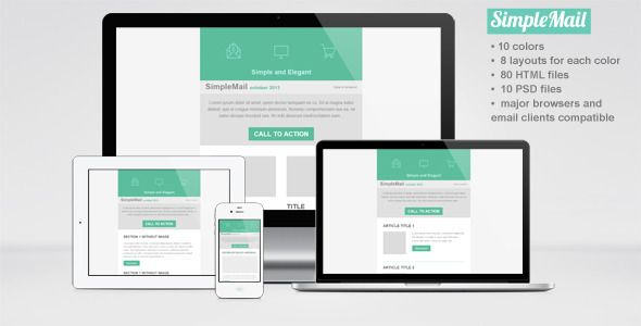 Simplemail Email Newsletter Template  Newsletter Templates Email