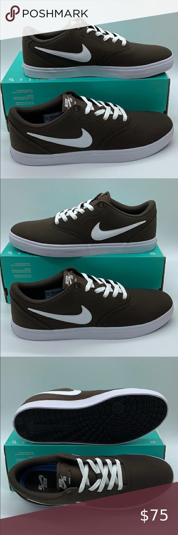 Nike Sb Check Solar Cnvs Baroque Brown White White Brand Men S Shoes Nike Sb