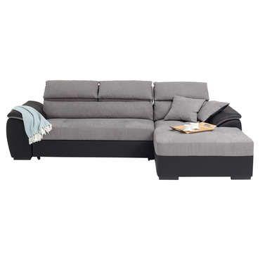 canap d 39 angle droit convertible 4 places botero coloris gris et noir pas cher c 39 est sur. Black Bedroom Furniture Sets. Home Design Ideas