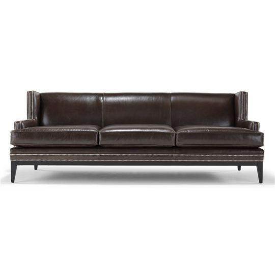 """Tasha"" Leather Sofa By Mitchell Gold + Bob Williams"