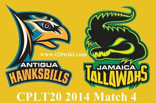 Antigua Hawksbills will face Jamaica Tallawahs in 4th match