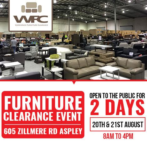 Warehousefc Has Announced Furniture Clearance Event Open To
