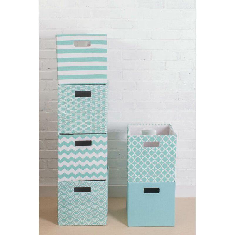 Cube Honeycomb Fabric Polyester Bin Fabric Storage Bins Decorative Storage Bins Fabric Squares