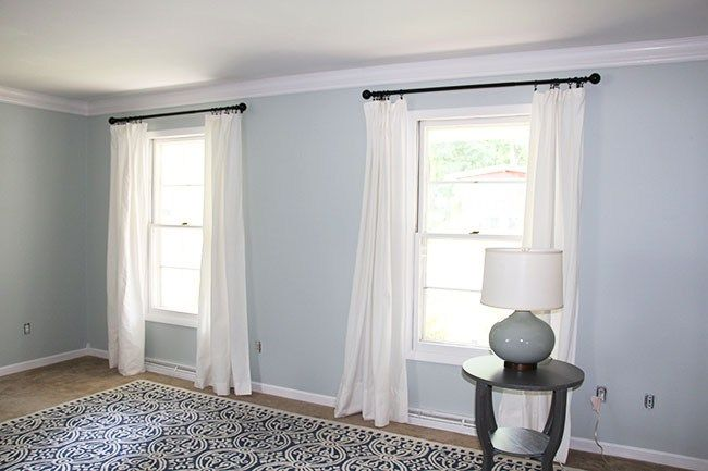 ikea hack for long beautiful curtains
