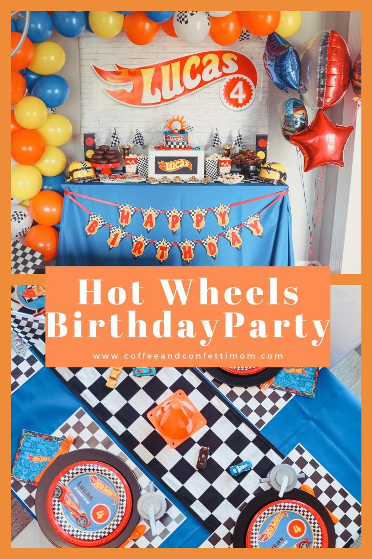 The perfect birthday party theme for a racing and car loving little boy.  Hot Wheels party ideas from cake to favors. #birthday #birthdaycake #hotwheels #boybirthdayparties #boybirthdayparty #boybirthday #partyideas #birthdayparty #racing #hotwheelsparty #birthdaythemes #cars