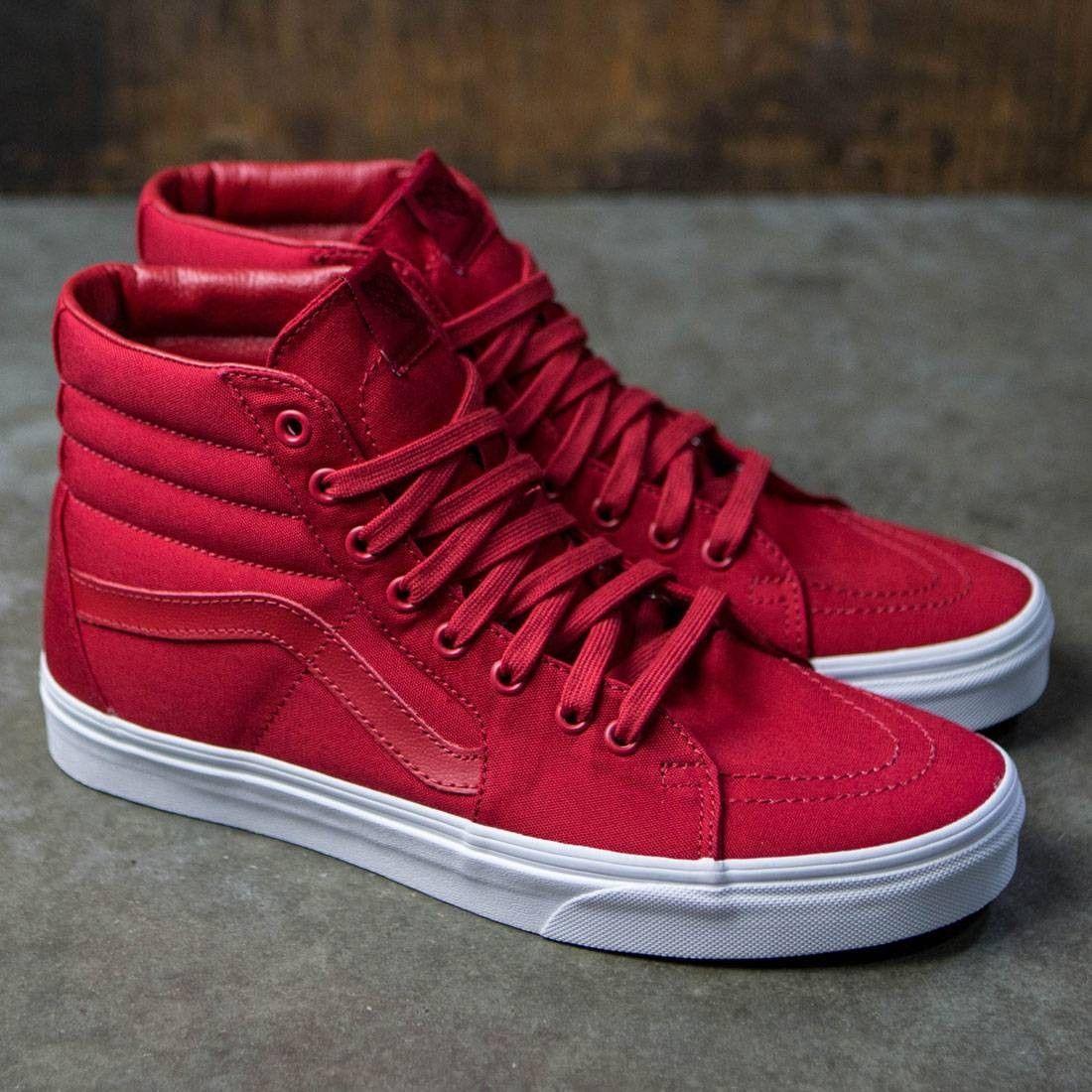 vans canvas red