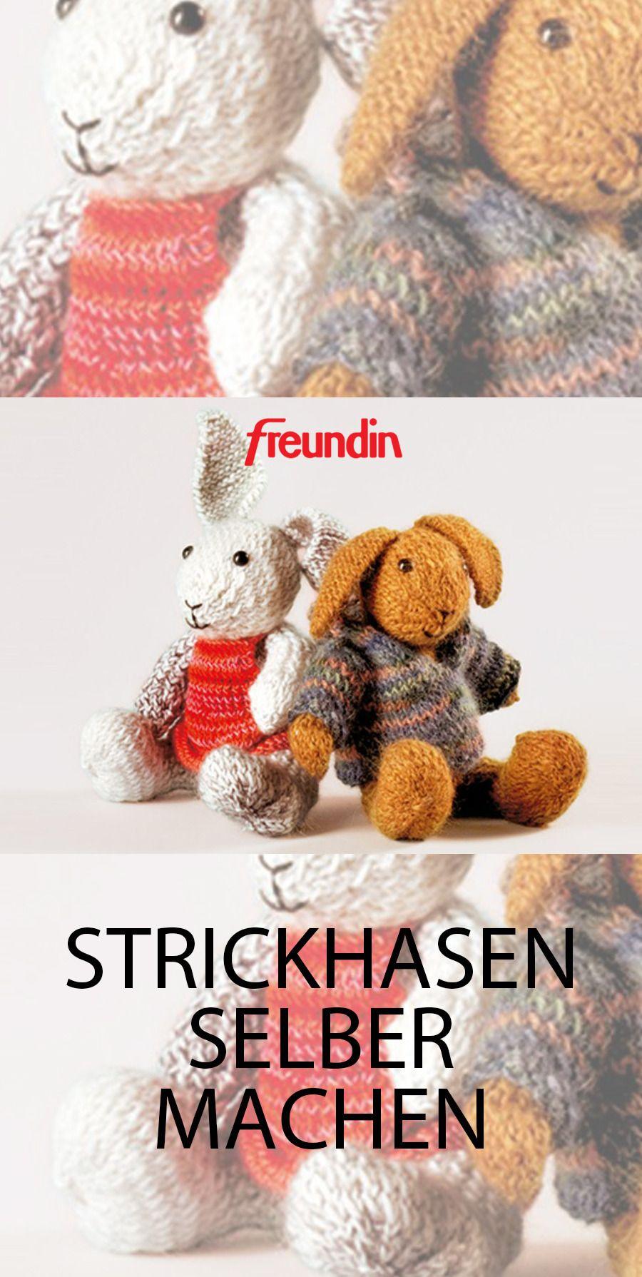 Photo of DIY Geschenke – Strickhasen | freundin.de