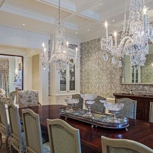 Two Chandeliers Design Ideas Pictures Remodel And Decor Interior Design Dining Room French Interior Design