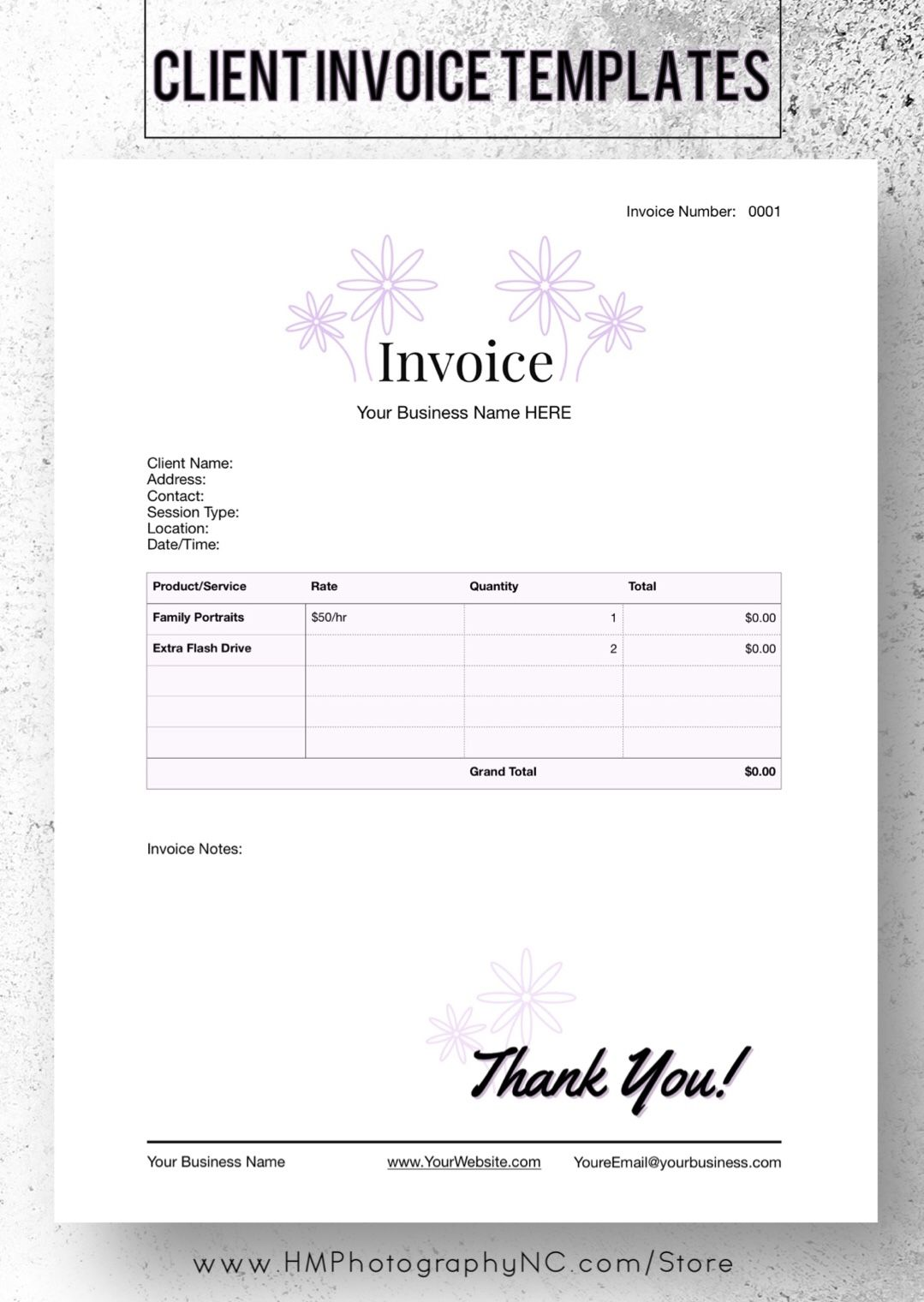 Client Invoice/Receipt Business Templates in 2020