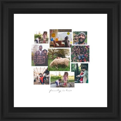 Gallery Collage of Nine Framed Print, Black, Classic, None, White, Single piece, 12 x 12 inches