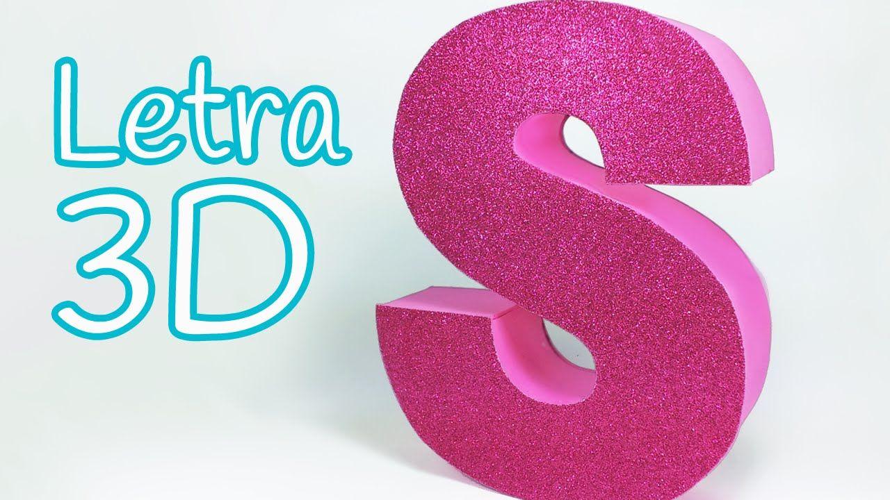 Manualidades: LETRAS en 3D para decorar tu cuarto Innova Manualidades Letras de cartón