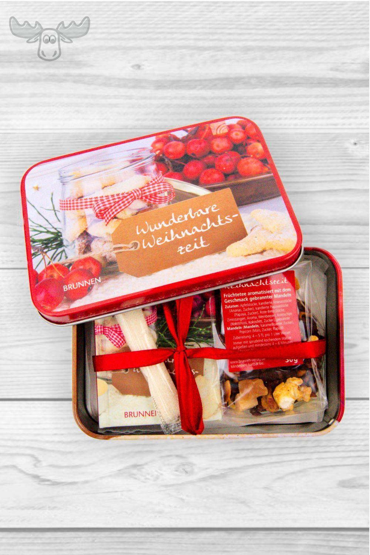 Prasentset Mit Teedose Und Mini Weihnachtsbuch Weihnachtsbucher Kundengeschenke Weihnachten Weihnachtsgeschenke Fur Kunden