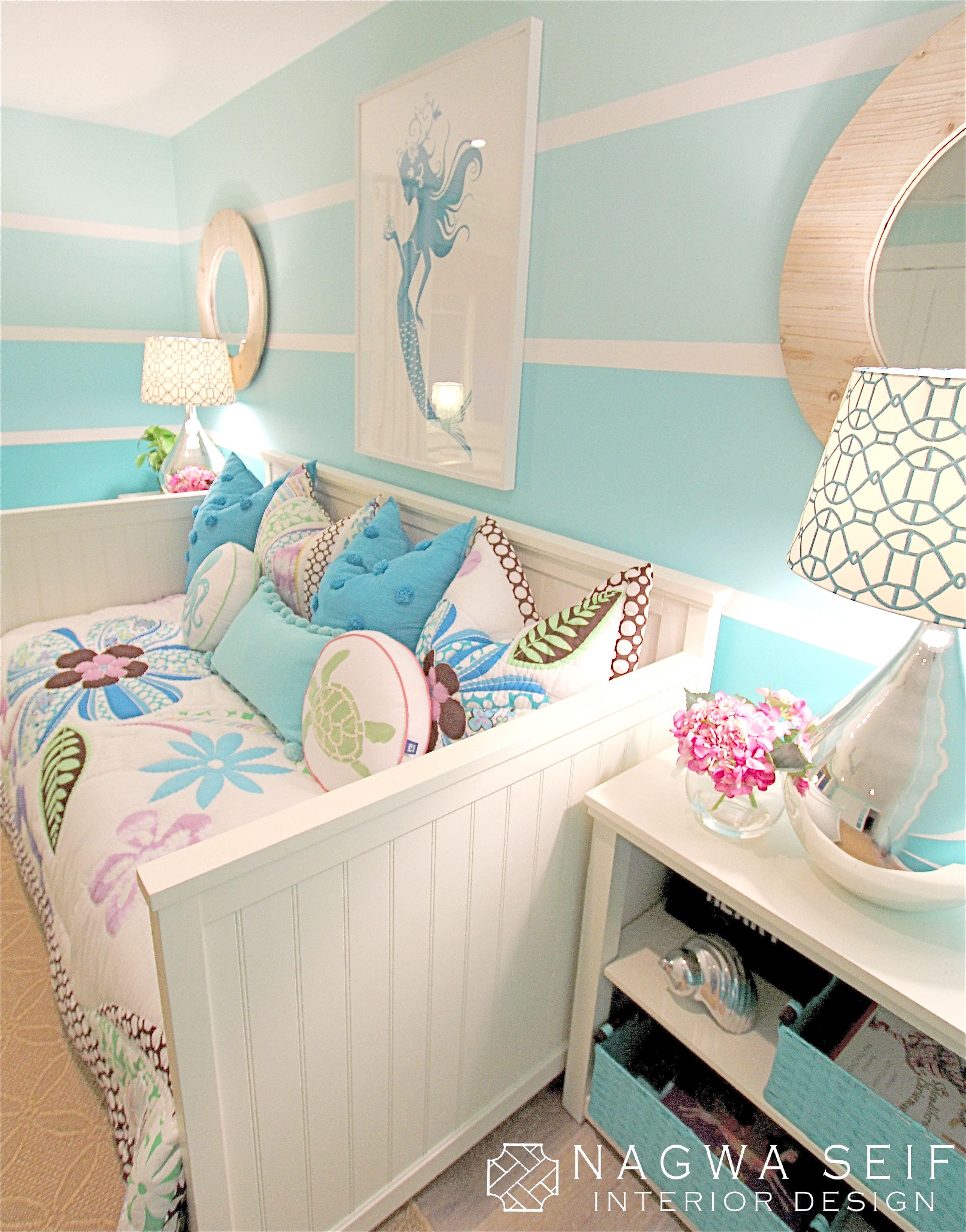 Coastal Mermaid Bedroom Bedroom Themes Room Decor Girl Room