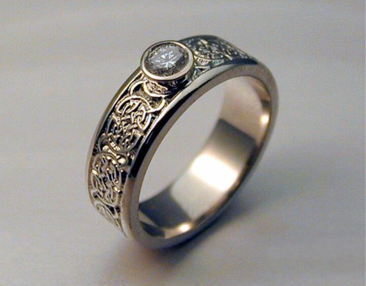 Intricate and beautiful celtic wedding rings wedding