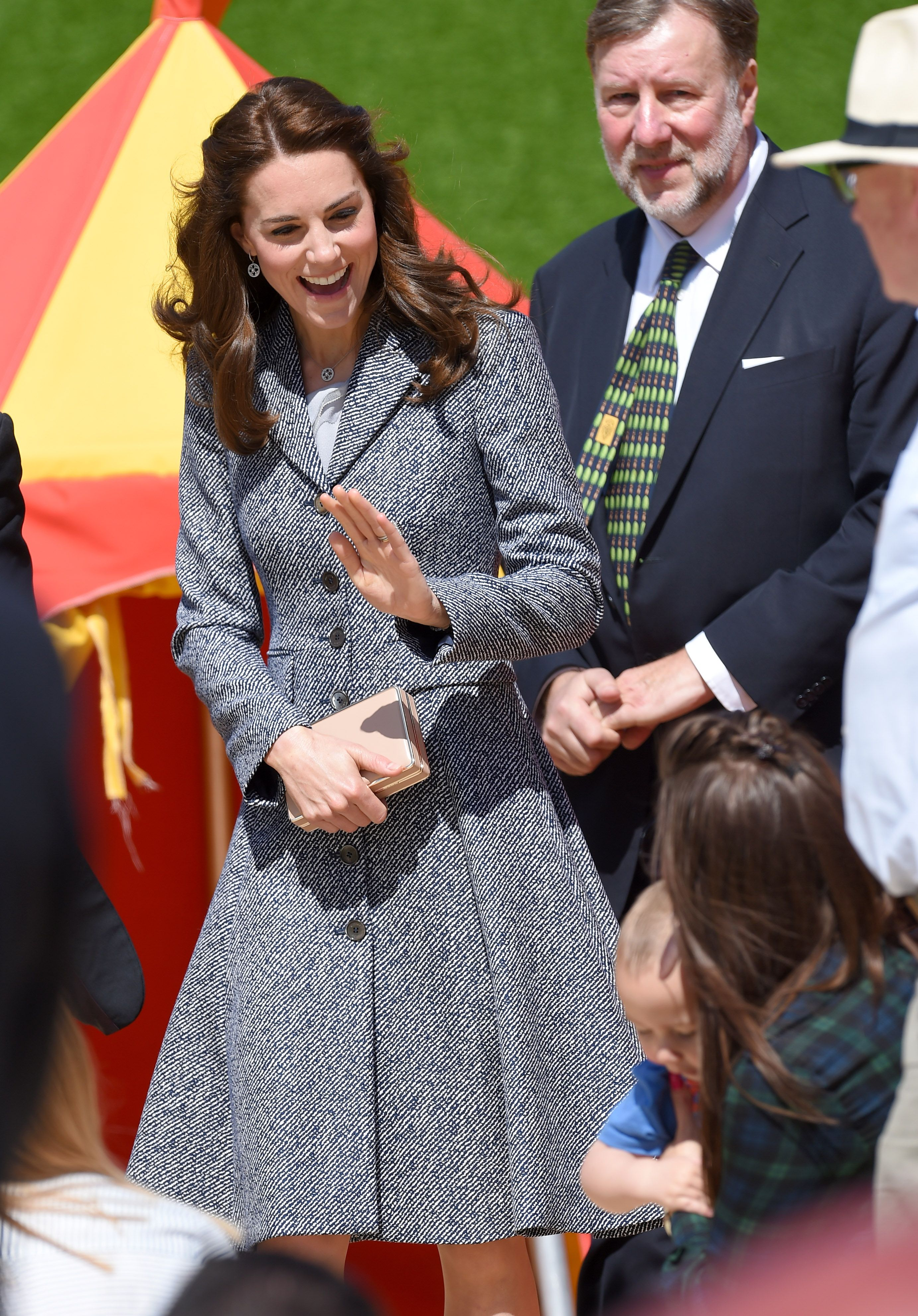 Aww!: Kate Middleton Tours Medieval-Themed Playground, Admits Prince George Would Be Afraid of its Dragon!