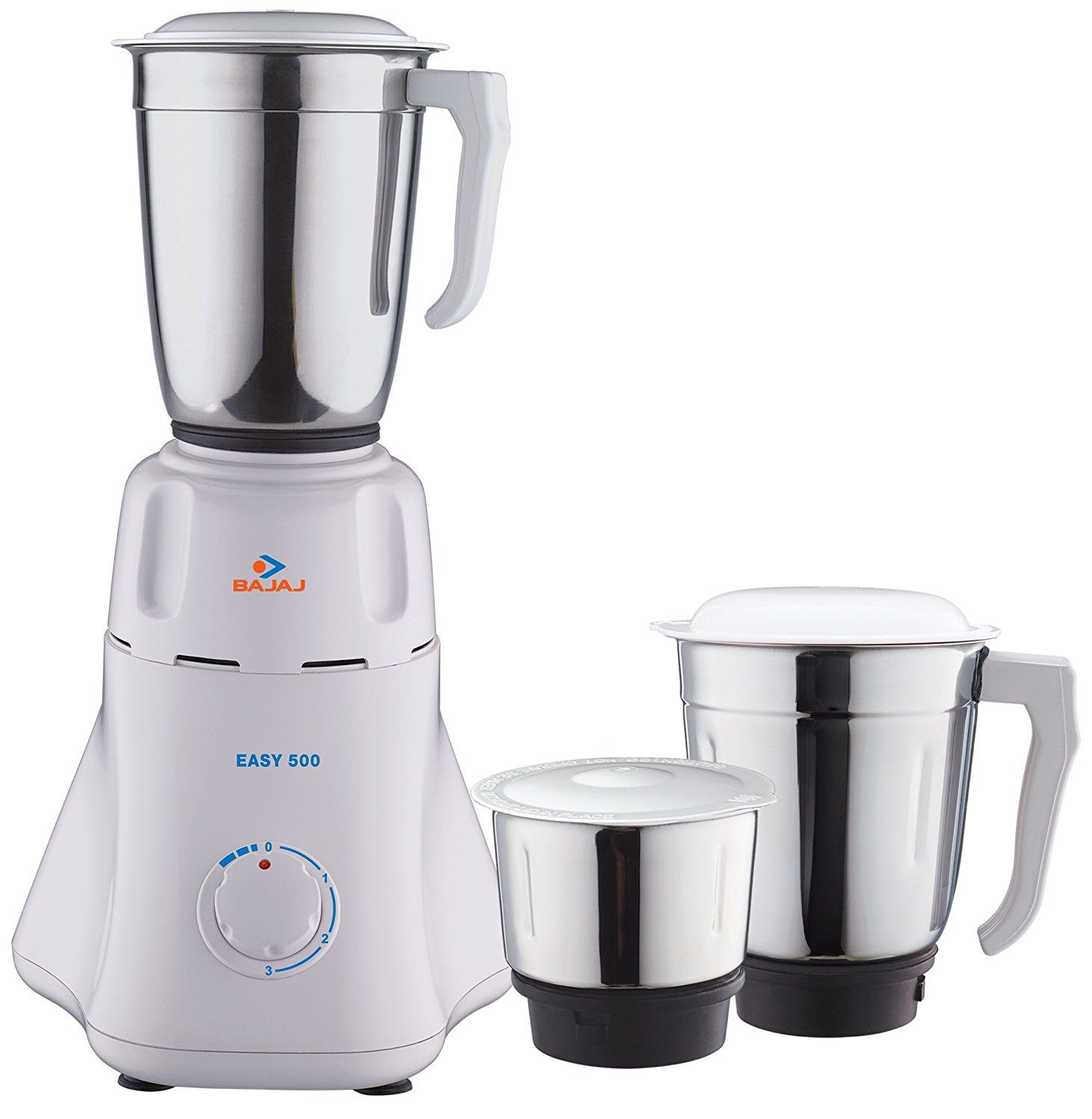 Bajaj Easy 500-Watt Mixer Grinder with 3 Jars (White) | kitchen ...