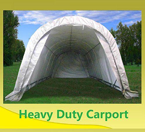 Carports - 24x13 Carport GreyWhite Heavy Duty Waterproof Garage Storage Canopy Shed Car Truck Boat Carport & Carports - 24x13 Carport GreyWhite Heavy Duty Waterproof Garage ...
