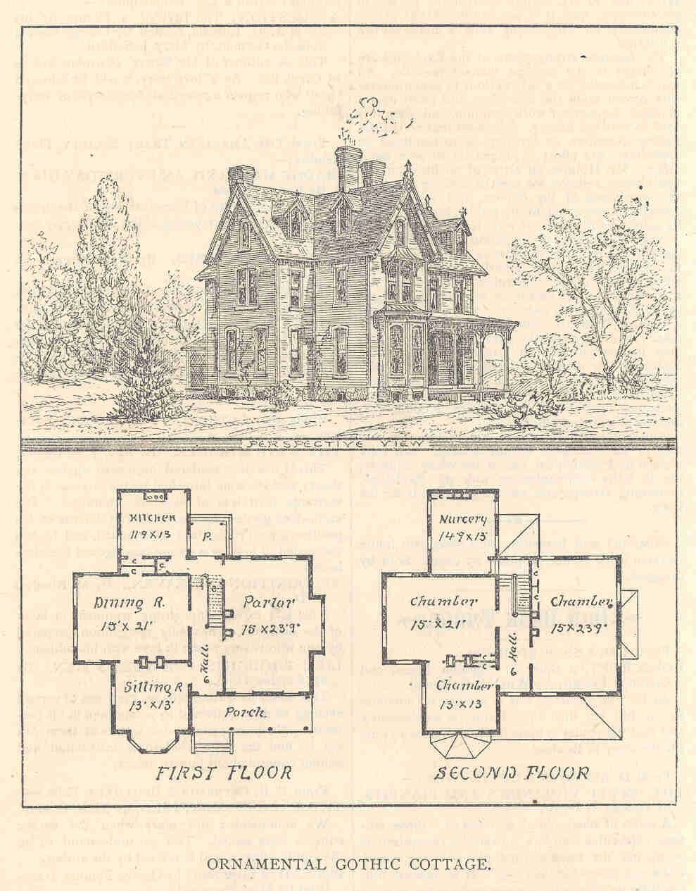 Gothic Cottage Victorian House Plans Sims House Plans Gothic House