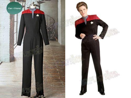 Voyager Cosplay Captain Kathryn Janeway Uniform Costume Star Trek