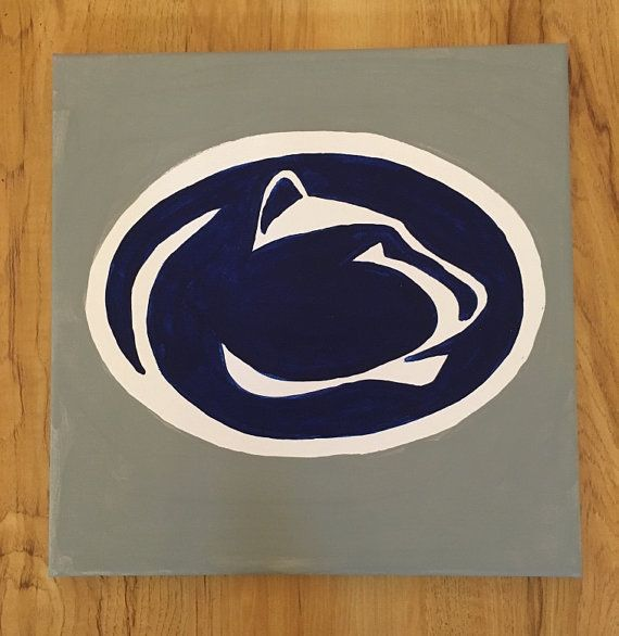 Show Your Penn State Pride This 12x12 Acrylic Painting On