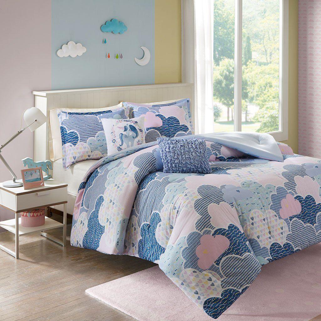 amazon com cloud 9 comforter set blue twin twin xl bedding bath