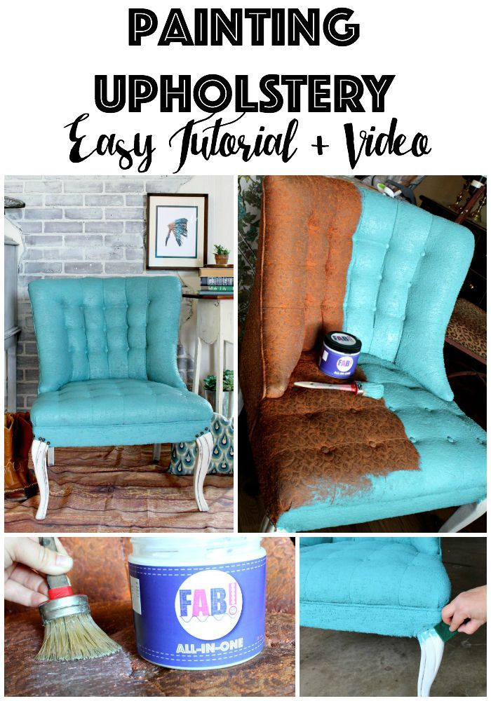 Painting fabric upholstery using new product FAB