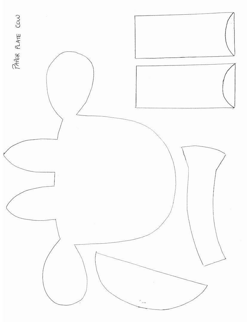 animals crafts print your cow craft template at allkidsnetwork