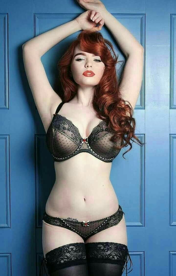 Sexy Red Head In Lingerie