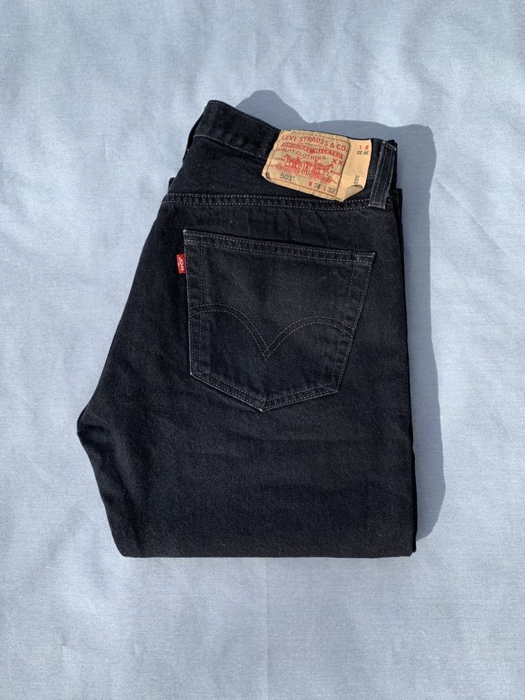 ea3581ce256 Men s Levi s 501 Original Straight fit button-fly Black denim jeans (34 x  32)  fashion  clothing  shoes  accessories  mensclothing  jeans (ebay link)